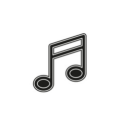 music note sign - musical symbol sign sound icon vector image