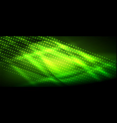 Neon green smooth wave digital abstract background vector