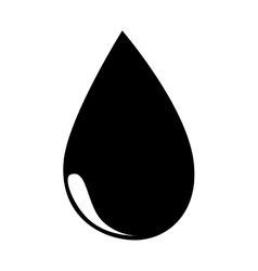 oil black drop icon vector image