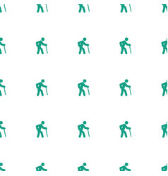 Old man icon pattern seamless white background vector