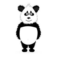 Panda standing vector image