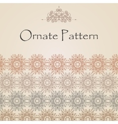 Pattern in eastern style on scroll work background vector