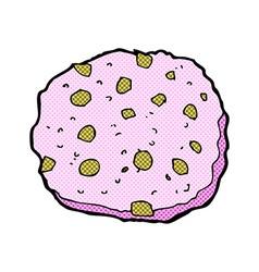pink cookie comic cartoon vector image