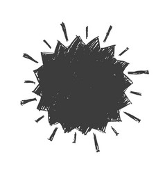 Promotional grunge star label isolated on white vector