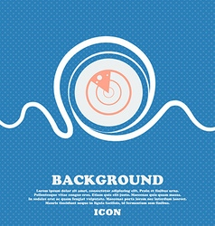 radar icon sign Blue and white abstract background vector image