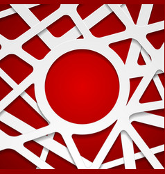red white abstract papercut corporate background vector image