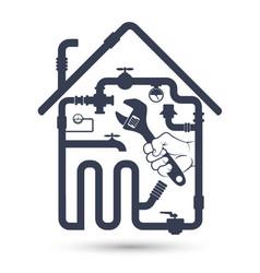 Repair of water pipes and sanitary ware vector