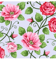 romantic roses vector image vector image