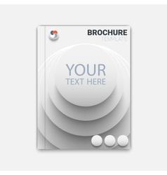rounds brocure vector image