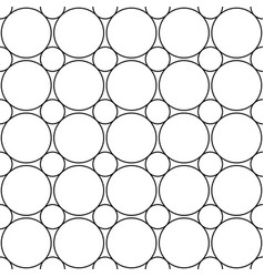 Seamless monochrome circle grid pattern - simple vector