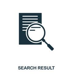 search result icon line style icon design ui vector image