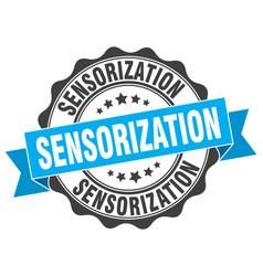 Sensorization stamp sign seal vector