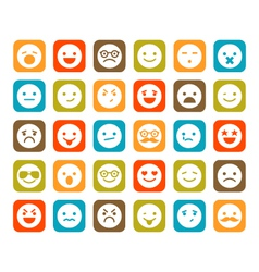Set smiley icons vector