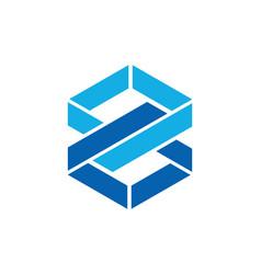 Shape infinity eight logo vector
