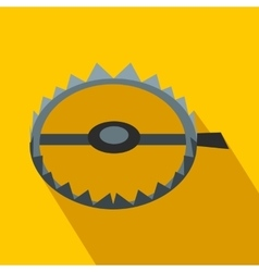 Sharp metal trap flat icon vector