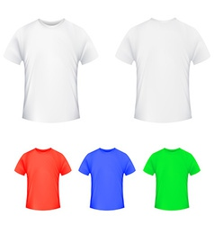 Shirt template vector image