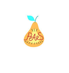 sign graphics pear vector image