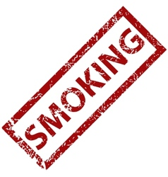 Smoking rubber stamp vector