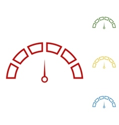 Speedometer sign Set of line icons vector image