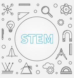 Stem frame science in outline vector