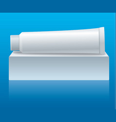 toothpaste tube packaging vector image
