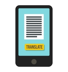 Translator on phone icon flat style vector