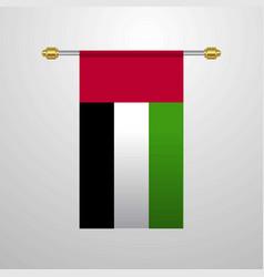 Uae hanging flag vector