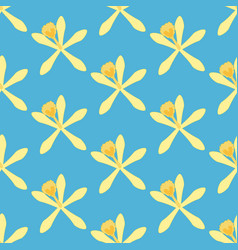 Vanilla flower pattern vector
