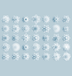 winter snowflakes abstract geometry vector image