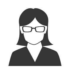 Woman profile silhouette icon vector