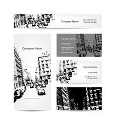 Business card urban design Street of Barcelona vector image vector image