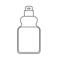 detergent bottle icon in monochrome silhouette vector image