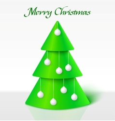 Green christmas tree with balls vector image vector image