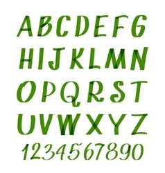 Marker letters and numbers hand written vector image vector image