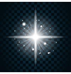 Shine star sparkle icon 20a vector image vector image