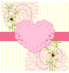 Springtime Love Card with Flower vector image vector image