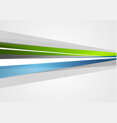 abstract blue and green corporate stripes vector image