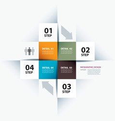 business step paper data and numbers vector image vector image
