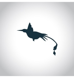 Hummingbird simple icon vector image vector image