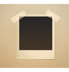 Photoframe on beige background with adhesive tape vector image
