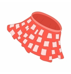 Red skirt with white squares icon cartoon style vector image