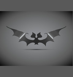 steel bat halloween logo vector image