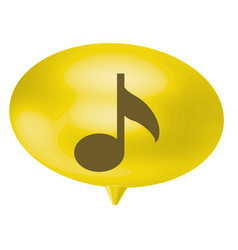 Yellow bubble with musical note sign vector