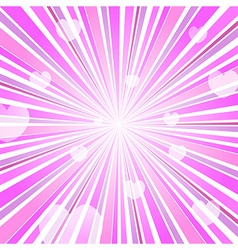 Abstract Love Heart Burst Ray Background Pink vector image vector image
