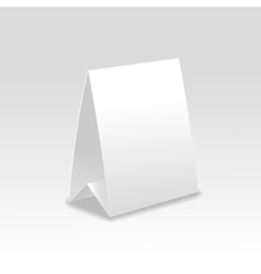 Blank paper table cards vector image