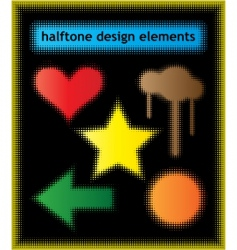 Halftone design elements vector