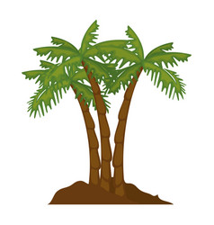 isolated beach palms vector image vector image
