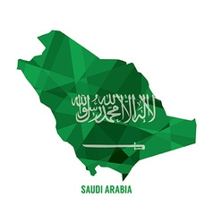 Map of Saudi Arabia vector image