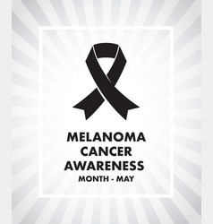 melanoma cancer awareness vector image vector image