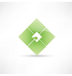 Abstract eco leaf icon vector image vector image